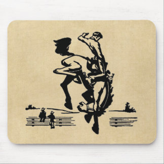 Bucking Bronco Rider Mouse Pads
