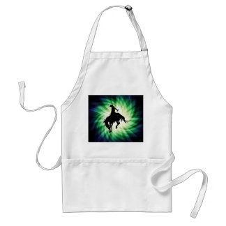 Bucking Bronco; Rodeo; Cool Adult Apron