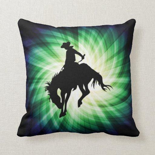 Bucking Bronco; Rodeo; Cool Throw Pillows