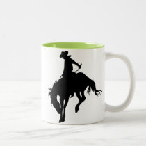 Bucking Bronco; Rodeo; Cool Two-Tone Coffee Mug