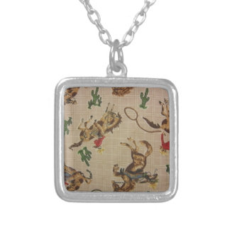 Bucking Bronco Silver Plated Necklace