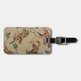 Bucking Bronco Tag For Luggage