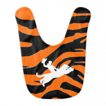 Bucking Bronco Tiger Baby Bib