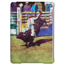 Bucking Bull and Rodeo Cowboy II iPad Air Cover