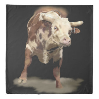 Bucking Bull Duvet Cover at Zazzle