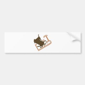 Bucking Bull Film Reel Bumper Sticker