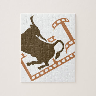 Bucking Bull Film Reel Jigsaw Puzzle