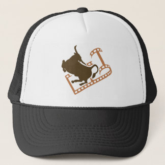 Bucking Bull Film Reel Trucker Hat