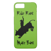 Bucking Bull Riding Rodeo Cowboy Ride Rank Case