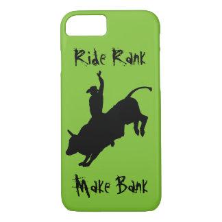 Bucking Bull Riding Rodeo Cowboy Ride Rank Case