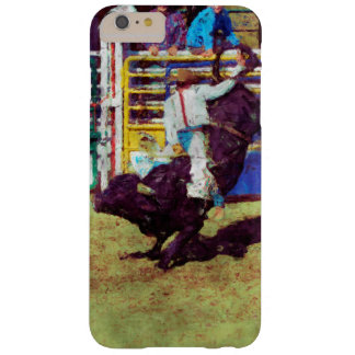 Bucking Bull Rodeo Cowboy Impressionist Art Barely There iPhone 6 Plus Case