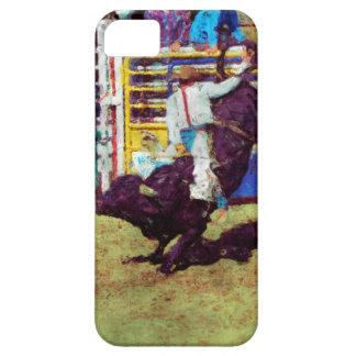 Bucking Bull Rodeo Cowboy Impressionist Art iPhone SE/5/5s Case