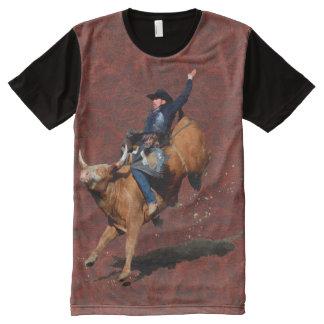 Bucking Bull Western Rodeo Cowboy Art Shirt All-Over Print T-shirt