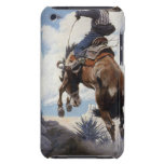 Bucking by NC Wyeth, Vintage Western Cowboys Barely There iPod Cases