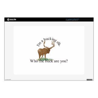 """Bucking Elk 15"""" Laptop Decal"""