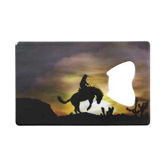 Bucking Horse and Cowboy Bottle Opener Credit Card Bottle Opener