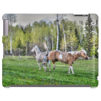 Bucking Palomino Paint & White Horse, Horse-lovers