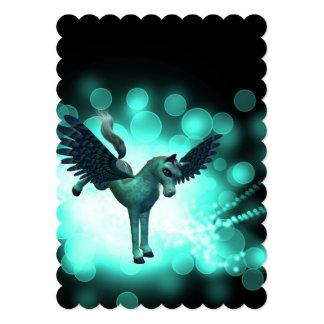 Bucking Pegasus 5x7 Paper Invitation Card
