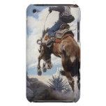 Bucking por NC Wyeth, vaqueros occidentales del Barely There iPod Funda