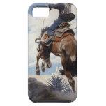 Bucking por NC Wyeth, vaqueros occidentales del iPhone 5 Case-Mate Protector
