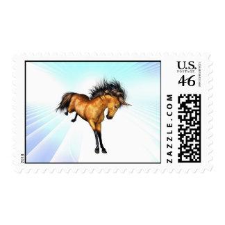 Bucking Unicorn Postage Stamp