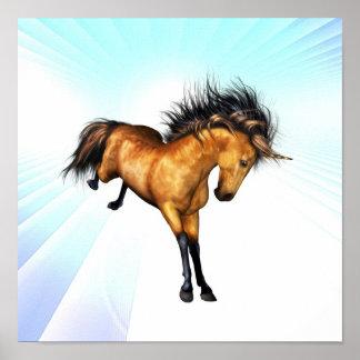 Bucking Unicorn Poster