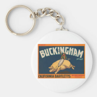 Buckingham Basic Round Button Keychain