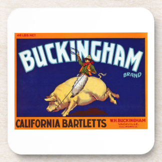 Buckingham Brand California Bartletts Beverage Coaster