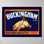 Buckingham Brand California Bartletts Poster
