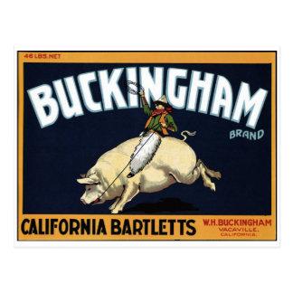 """Buckingham Brand"" Postcard"