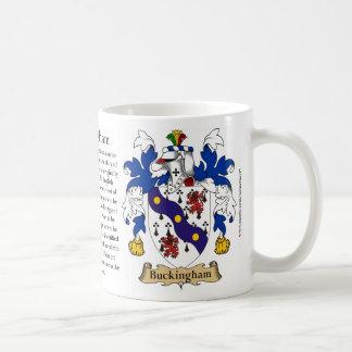 Buckingham, el origen, el significado y el escudo taza clásica