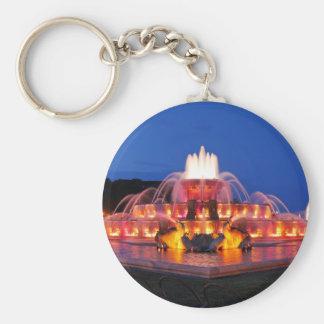 Buckingham Fountain 02.JPG Basic Round Button Keychain