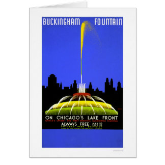 Buckingham Fountain 1939 WPA Greeting Card