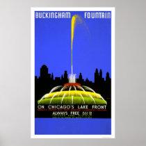 Buckingham Fountain 1939 WPA Poster