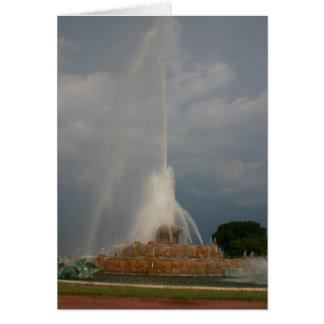 Buckingham Fountain Card