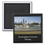 Buckingham Fountain, Chicago 2 Inch Square Magnet