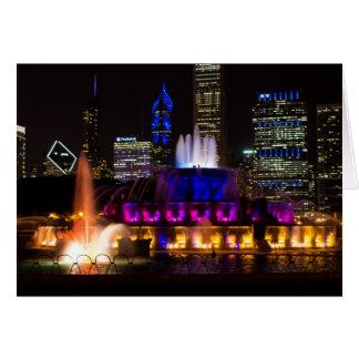 Buckingham Fountain Chicago Card
