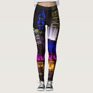 Buckingham Fountain Chicago Leggings