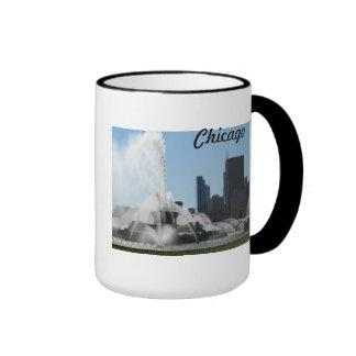 Buckingham Fountain - Chicago Ringer Coffee Mug