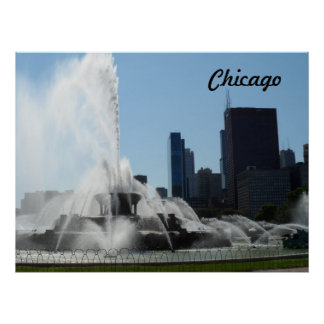 Buckingham Fountain - Chicago Poster