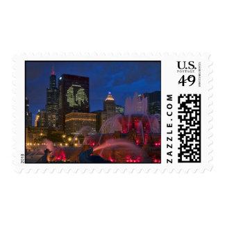 Buckingham Fountain, Chicago Stamp