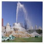 Buckingham Fountain Large Square Tile