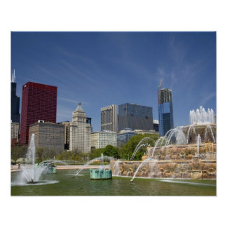 Buckingham Fountain located in Grant Park, 2 Poster