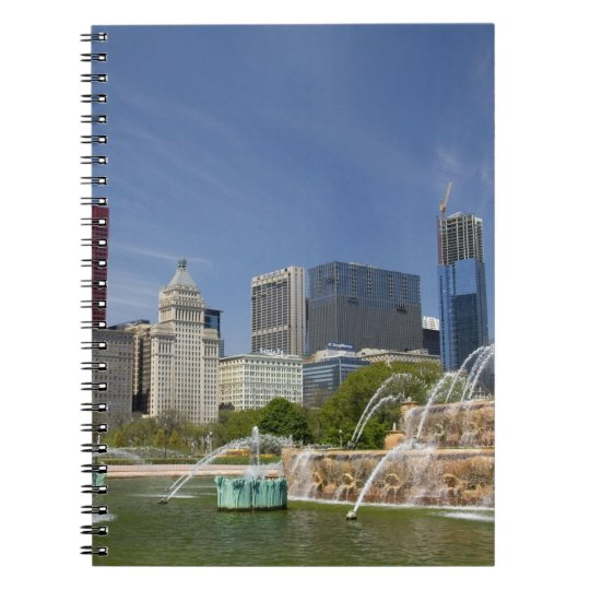 Buckingham Fountain located in Grant Park, 2 Spiral Notebook