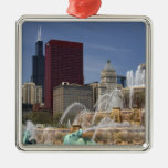Buckingham Fountain located in Grant Park, Christmas Tree Ornament