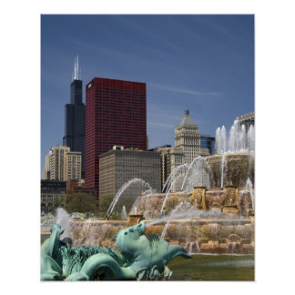 Buckingham Fountain located in Grant Park, Poster
