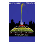 Buckingham Fountain On Chicago's Lake Front Poster