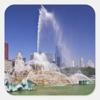 Buckingham Fountain Square Sticker