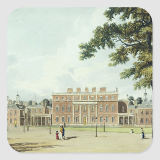 Buckingham House, from 'The History of the Royal R Square Sticker