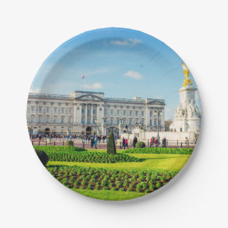 Buckingham Palace and Victoria Memorial Paper Plate